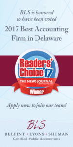 Best Accounting Firm 2017 - Delaware CPA