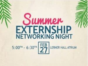 Summer Externship Networking