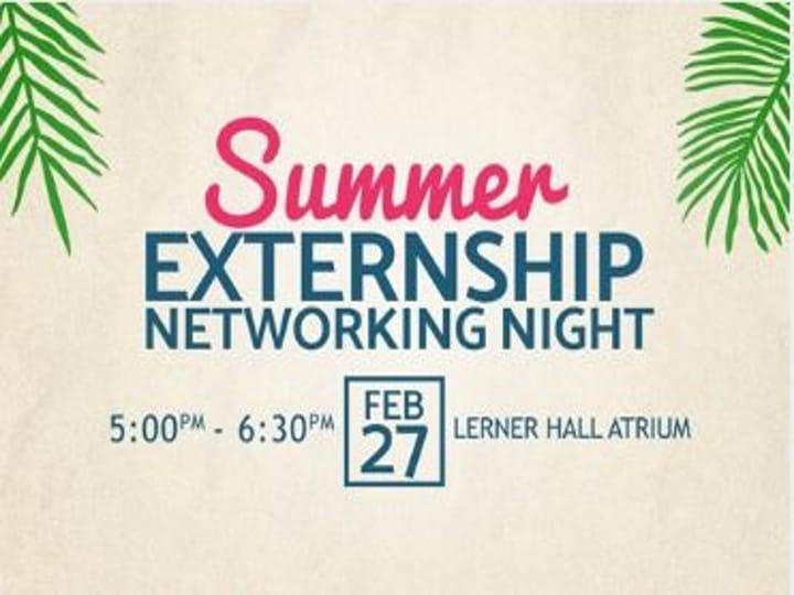 Summer Externship Networking